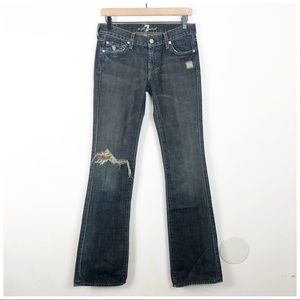 7 For All Mankind Medium Wash Flare Jean